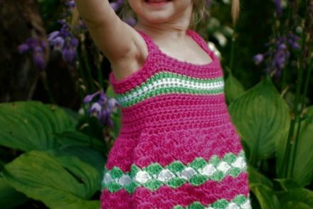 Garden Party Toddler Dress Free Crochet Pattern
