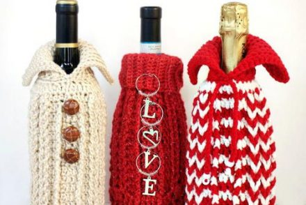 Gift Bottle Sweater Free Crochet Pattern