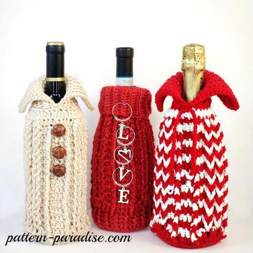 Gift Bottle Sweater Free Crochet Pattern