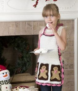 Gingerbread Man Apron Free Crochet Pattern