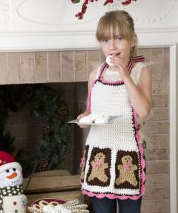 Gingerbread Man Apron Free Crochet Pattern