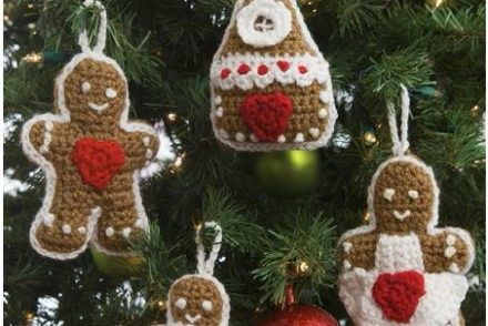 Gingerbread Ornaments Free Crochet Pattern