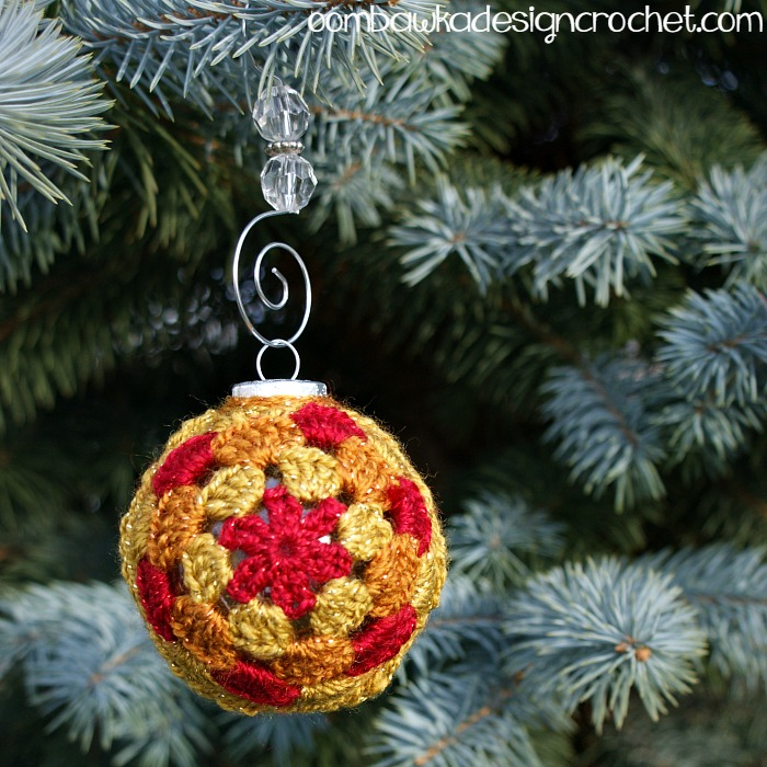 Glory Christmas Ornament Cover Free Crochet Pattern