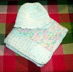 Glow Thermal Baby Blanket Free Crochet Pattern