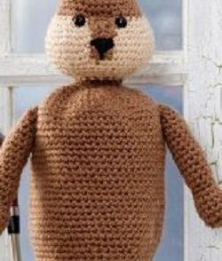 Gopher Golf Club Cover Free Crochet Pattern