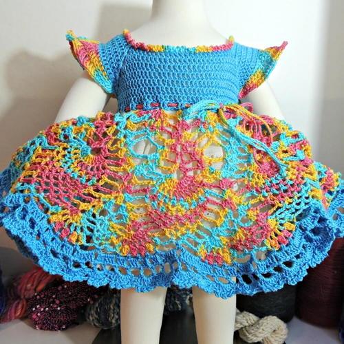 Grace & Charm Newborn Dress Free Crochet Pattern