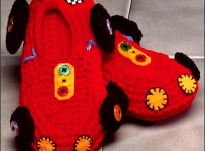 Grand Prix Slippers Free Crochet Pattern