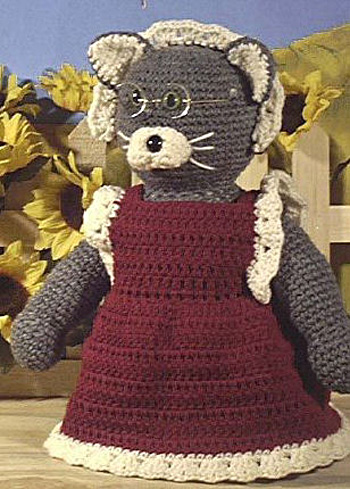 Granny Cat Free Crochet Pattern
