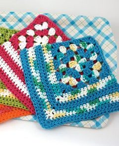 Granny Dishcloth Free Crochet Pattern