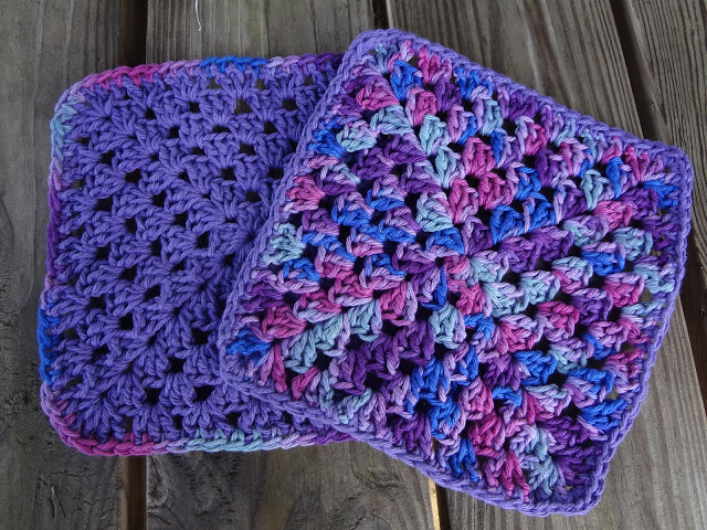 Granny Square Berry Dishcloths Free Crochet Pattern