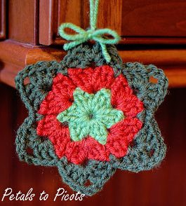 Granny Star Ornament Free Crochet Pattern