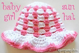 Granny Stitch Sun Hat Free Crochet Pattern