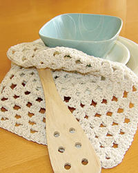 Granny's Square Dishcloth Free Crochet Pattern