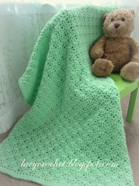 Green Baby Blanket Free Crochet Pattern
