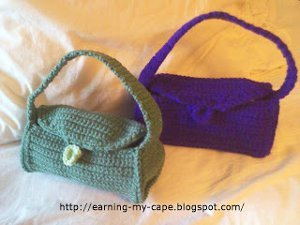 Half Skein Purse Free Crochet Pattern