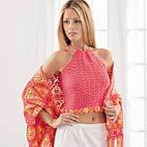 Halter Top and Shawl Free Crochet Pattern