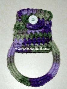 Hanging Towel Holder Free Crochet Pattern