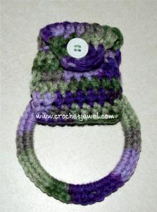 Hanging Towel Holder Free Crochet Pattern