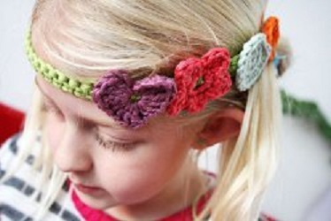 Happy Day Headband Free Crochet Pattern