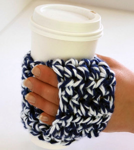 Happy Hands Coffee Cozy Free Crochet Pattern