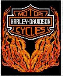 Harley Davidson Afghan Free Crochet Pattern