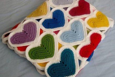 Heart Baby Blanket Free Crochet Pattern