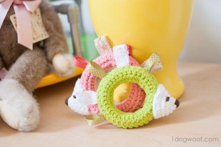 Hedgehog Baby Toy Free Crochet Pattern