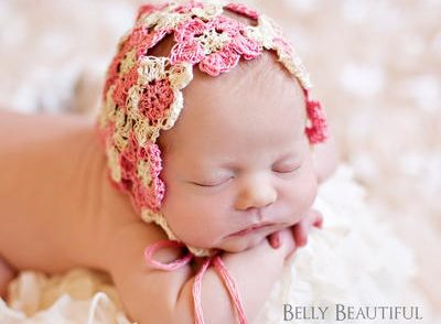 Heirloom Flower Bonnet Free Crochet Pattern