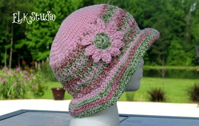 Honeysuckle Summer Hat Free Crochet Pattern
