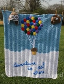 Hot Air Balloon Baby Blanket Free Crochet Pattern