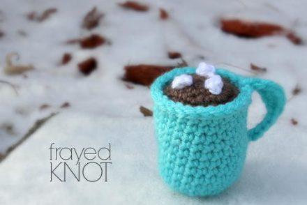 Hot Chocolate Mug Ornament Free Crochet Pattern