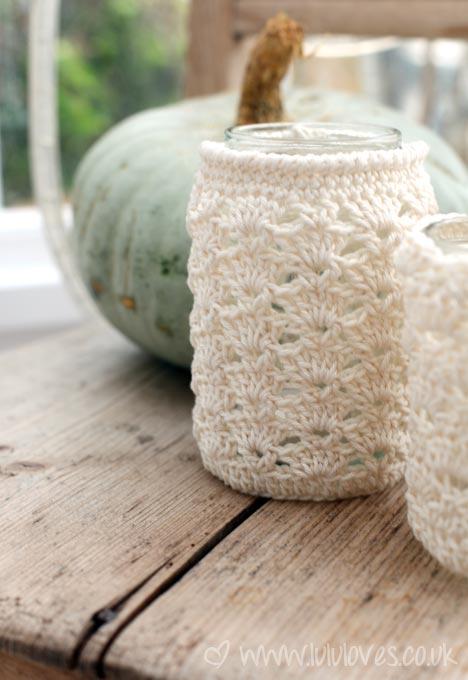 Jar Cozy Free Crochet Pattern