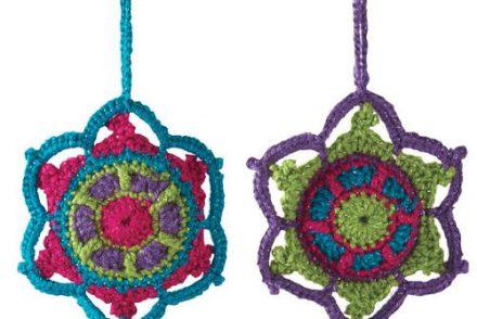 Jewel Tone Snowflake Free Crochet Pattern
