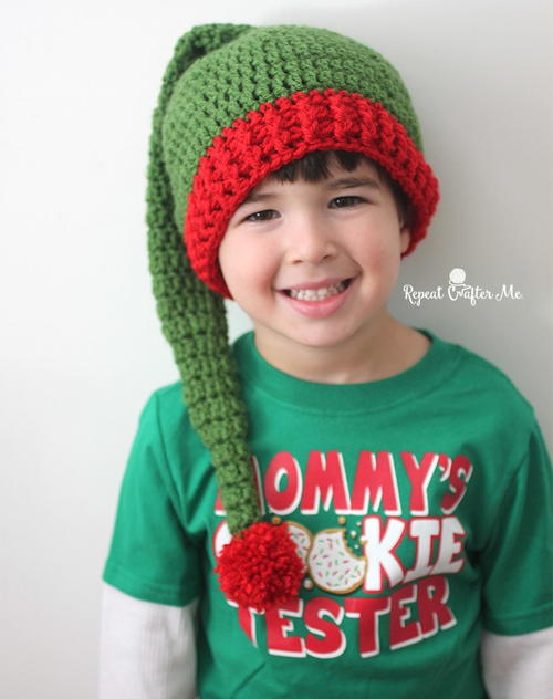Jolly Elf Hat Free Crochet Pattern