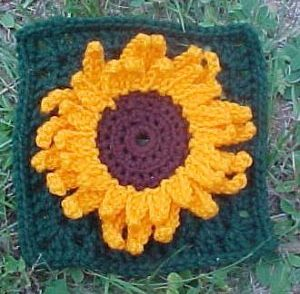 Julie's Sunflower Square Free Crochet Pattern