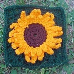 Julie's Sunflower Square Free Crochet Pattern