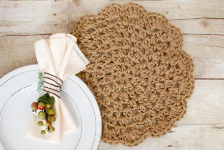 Jute Placemat Free Crochet Pattern