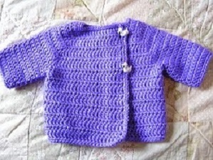 Kelly's Baby Sweater Free Crochet Pattern