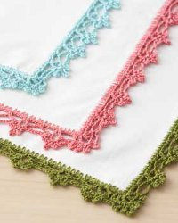 Lace Napkin Edging Free Crochet Pattern