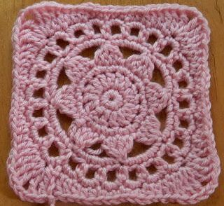 Lacy Sunflower Granny Square Free Crochet Pattern