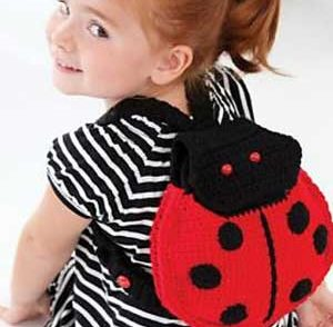Lady Bug Backpack Free Crochet Pattern