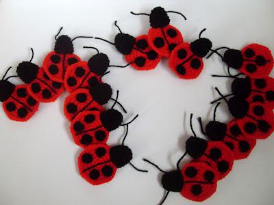 Ladybug Applique Free Crochet Pattern