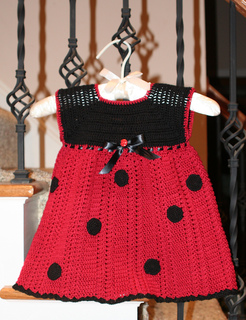 Ladybug Dress & Hat Free Crochet Pattern