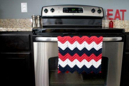 Large Chevron Kitchen Towel Free Crochet Pattern