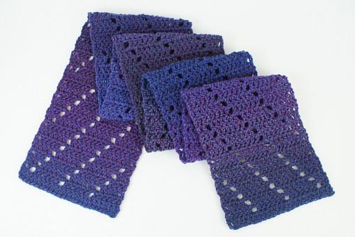 Leaning Ladders Scarf Free Crochet Pattern