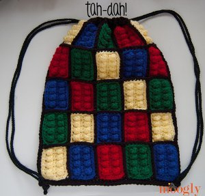Lego Block Bag Free Crochet Pattern