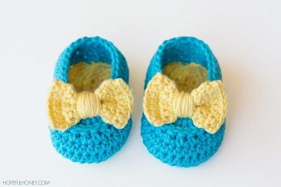 Lemon Drop Baby Booties Free Crochet Pattern