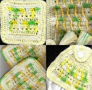 Lemon Lime Kitchen Set Free Crochet Pattern