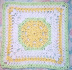 Lemony Lime Citrus Granny Square Free Crochet Pattern