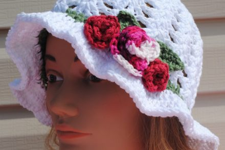 Lightweight Garden Hat Free Crochet Pattern